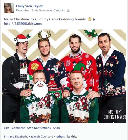 Viral eCard app connects Canucks with fans for holidays