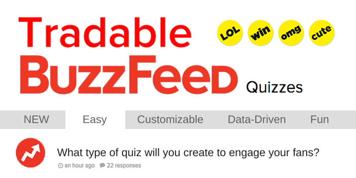Create BuzzFeed-Style Quizzes to Engage Fans and Collect Data with Tradable Bits
