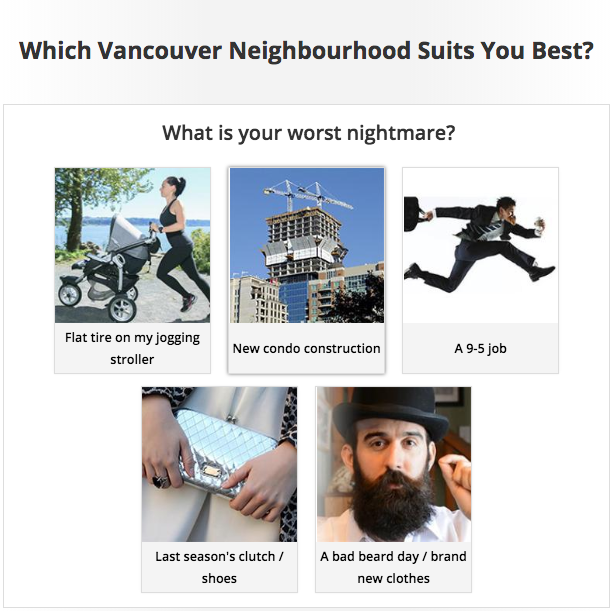 Tourism Vancouver Personality Quiz powered by Tradable Bits - Worst Nightmare Question
