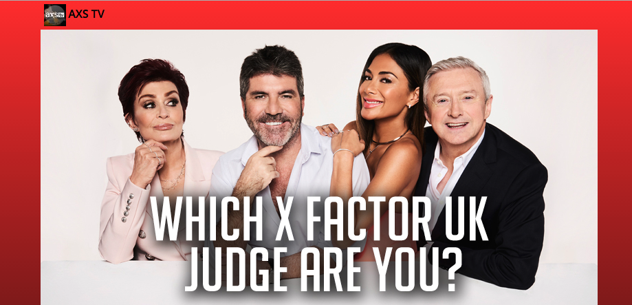Which X-Factor Judge Are You personality quiz powered by Tradable Bits