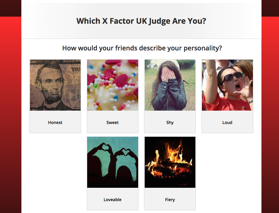 Which X-Factor Judge Are You personality quiz powered by Tradable Bits - Question View