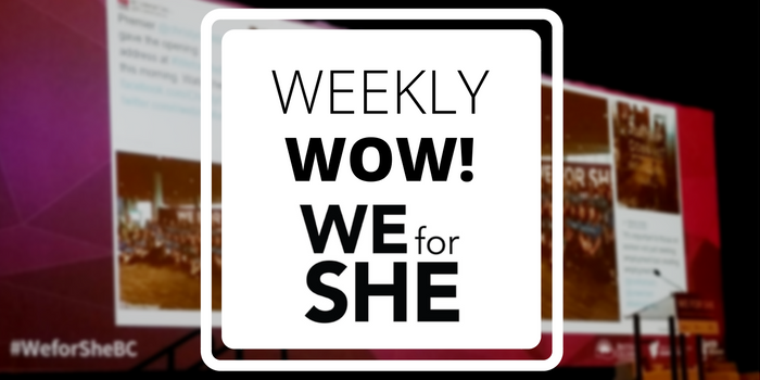 We For She Conference Tradable Bits Stream weekly wow case study