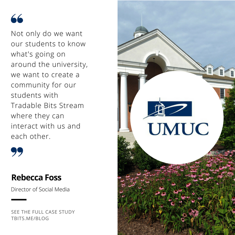 University of Maryland University College Tradable Bits Case Study Testimonial