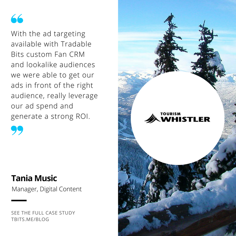 Tourism Whistler Tradable Bits Testimonial