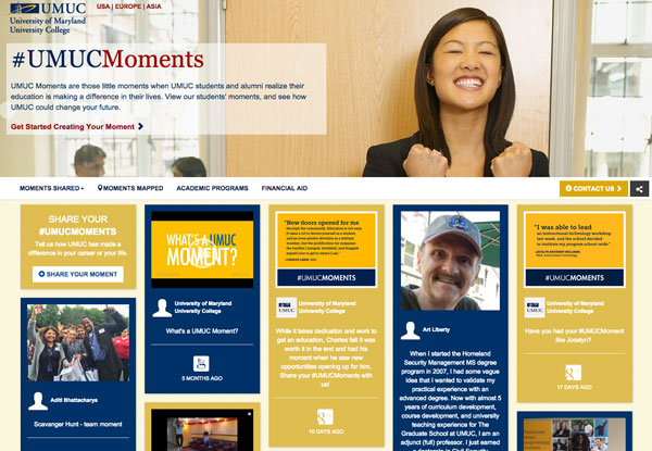 University of Maryland University College Tradable Bits Case Study Screenshot