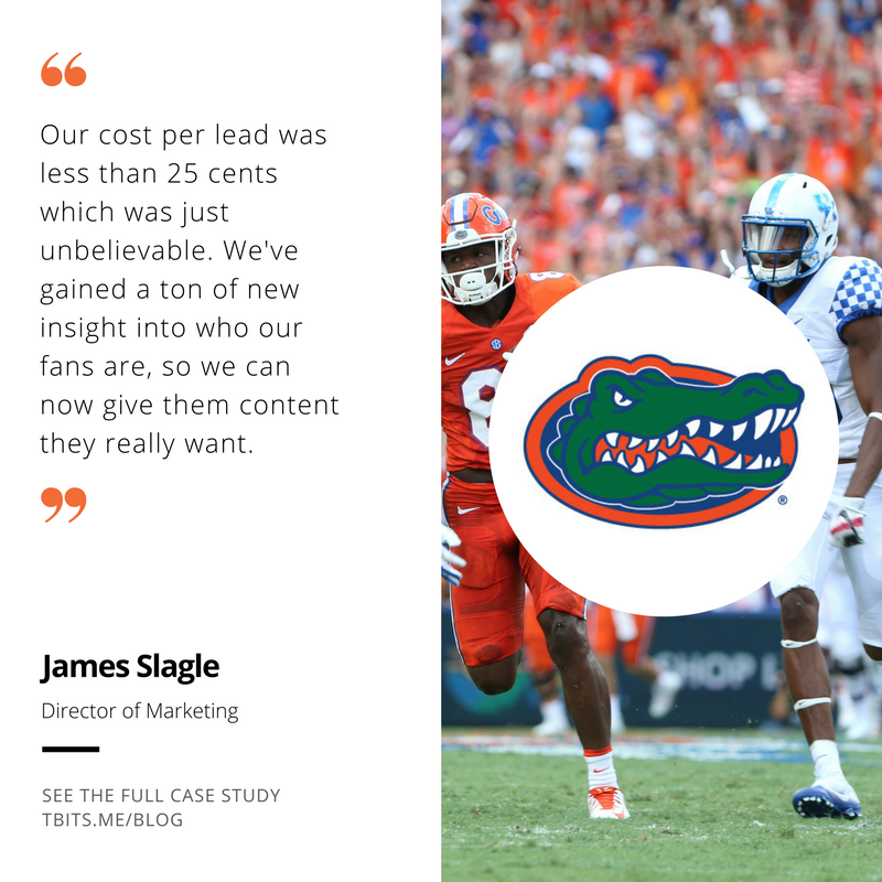 Tradable Bits Florida Gators Case Study Testimonial