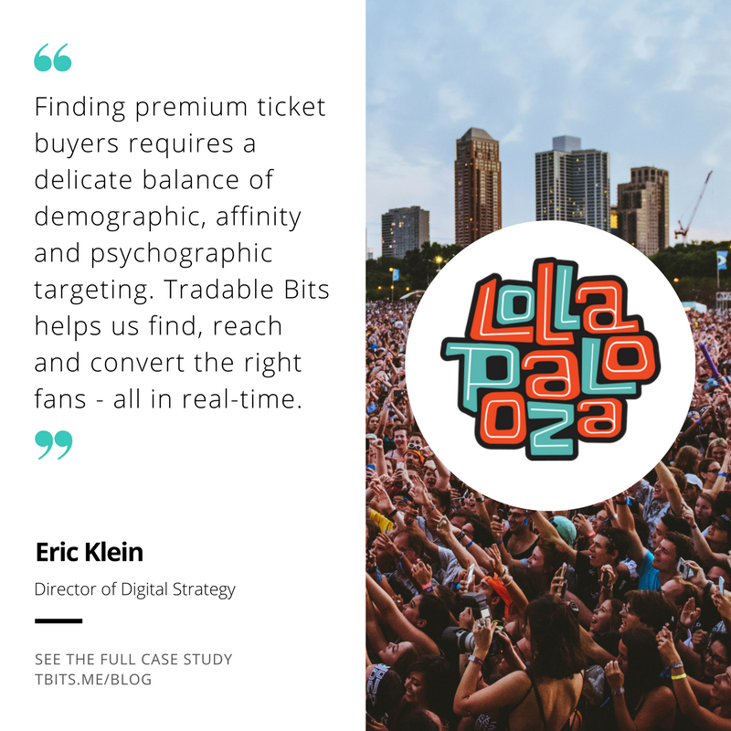 Tradable Bits Testimonial by Lollapolooza and C3 Director of Digital Strategy, Eric Klein