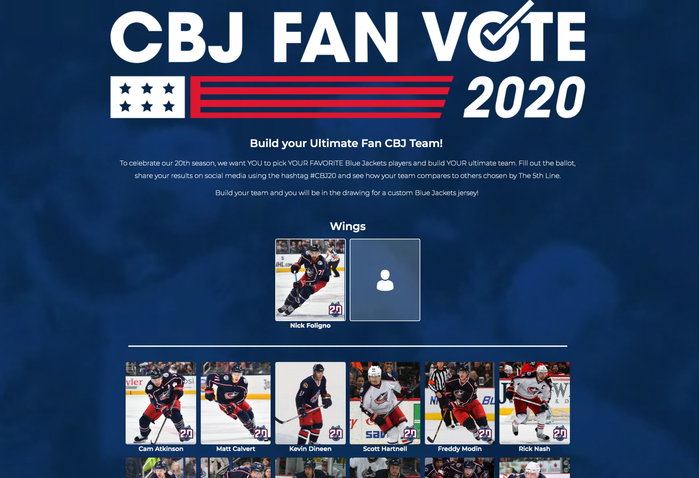 Columbus Blue Jackets Anniversary Digital Campaign