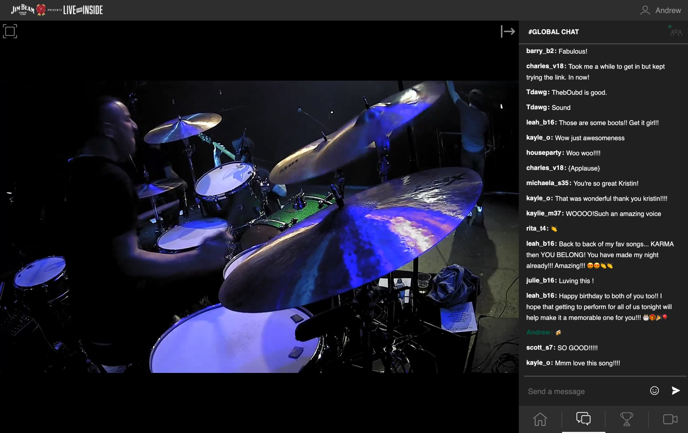 Deliver second-screen experiences using interactive livestream
